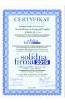 2015 Certyfikat Solidna Firma